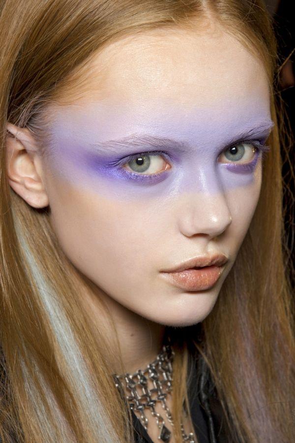 Purple soft makeup
