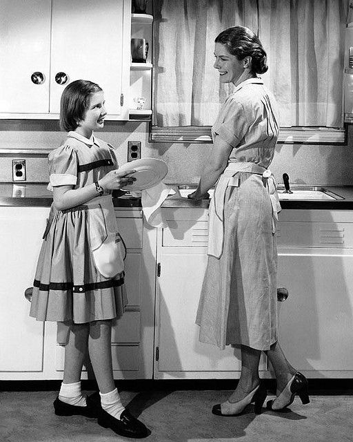 ♥Oh, the memories here doing dishes with my mother, grandmother and aunts. B.