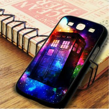 Tardis Doctor Who Police Box Galaxy Full Color Samsung Galaxy S3 Case