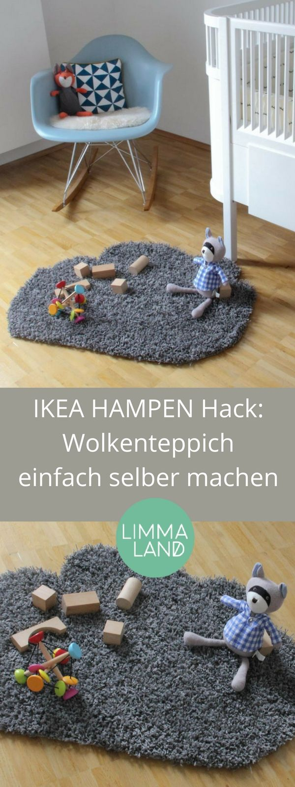 Cute IKEA HAMPEN Hack Wolkenteppich DIY