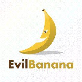 Exclusive Customizable Banana Logo For Sale: Evil Banana   StockLogos.com