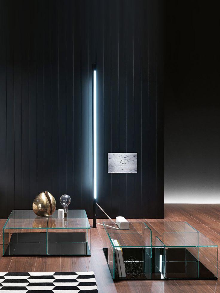 Quadra Square Glass Coffee Table