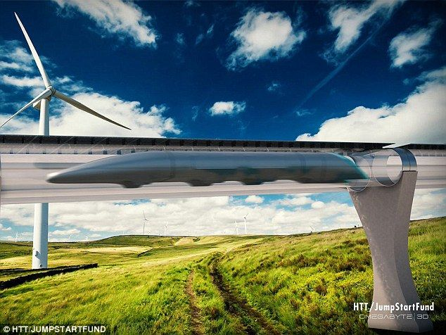 LA to San Francisco in ½ hour, moves closer: over 100 engineers are working on Elon Musk's supertube | The Hyperloop Transportation Technologies design for Elon Musk's Hyperloop. It hopes to produce a technical feasibility study finished in mid-2015.