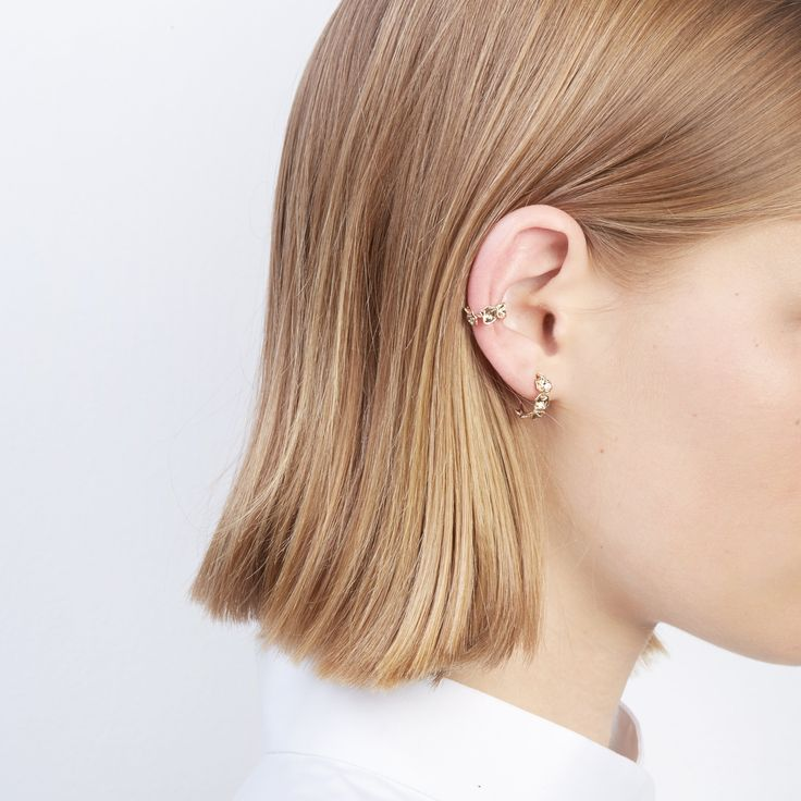 The Oyster Bed Ear Cuff and Oyster bed Hoops by SARAH & SEBASTIAN