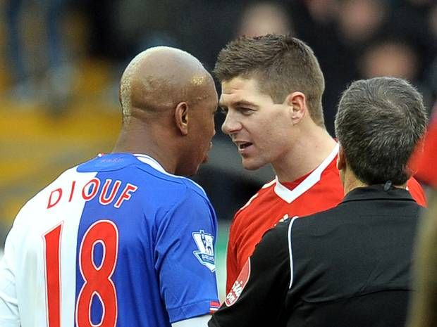 Steven Gerrard denies racism claims allegedly made by former Liverpool team-mate El-Hadji Diouf - Premier League - Football - The Independent