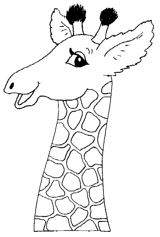 Giraffe Color Page Animal Coloring Pages Plate Sheetprintable Picture Fall Crafts For Kids