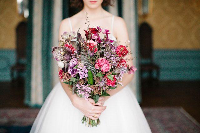Vrolijk boeket met rood en roze tinten! De kleuren van liefde <3