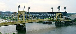 Roberto Clemente Bridge in PIttsburgh