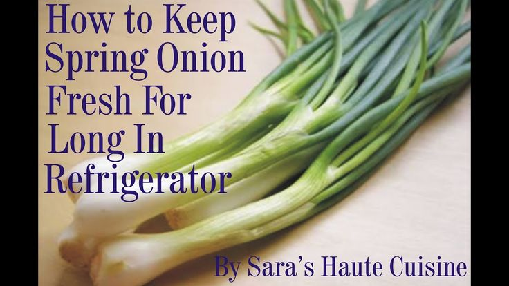 How to keep spring onion fresh for long in refrigerator