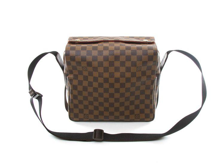Authentic Louis Vuitton Damier Canvas Naviglio Messenger Bag N45255