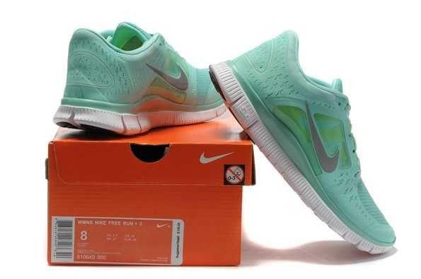 UK Nike Free 5.0 V3 Womens Green Silver Running Shoes