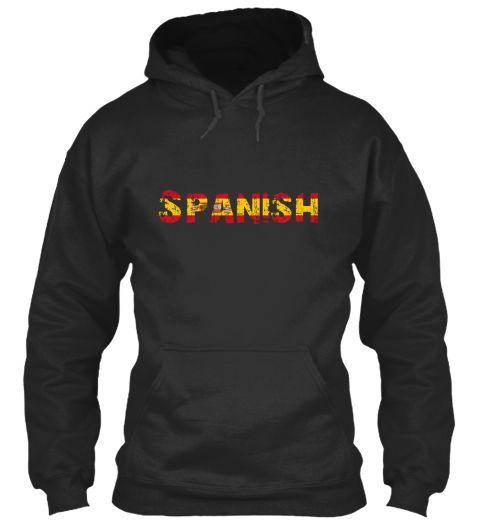Spanish Jet Black T-Shirt Front #SPAIN #REALMADRID #GUY #GIRL #HOODIES #TSHIRT #TEES #SPANISH #TRAVEL #TRIP #MADRID #COOL #HOT #NICE #IWANTTHISSHIRT