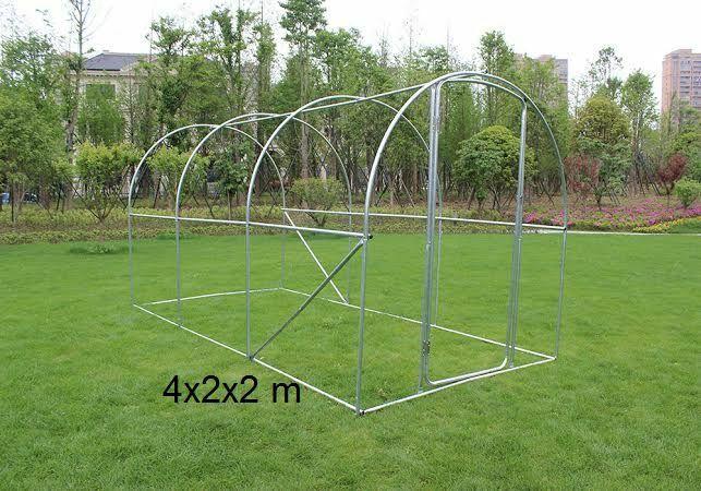 Rahmen mit Tür  Rohre 25mm//für die Herstellung einer Tunnelgewächshaus  4x2x2 m