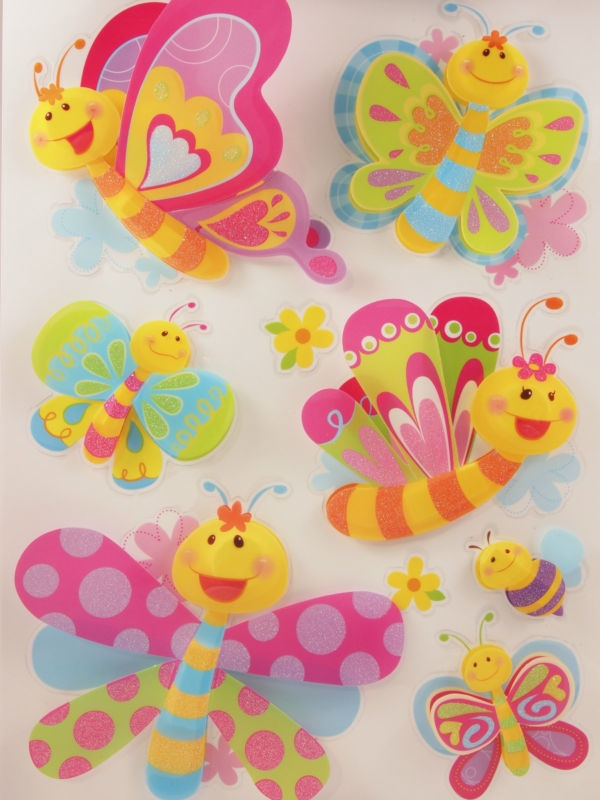 New Kids Room Decor 3D Wall Stickers, colourful butterflies and bee, removable   eBay $24 with free shipping Australia wide...