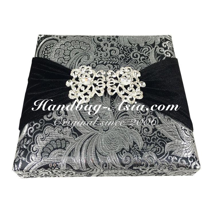 Brocade Silk Boxed Wedding Invitation Design 64