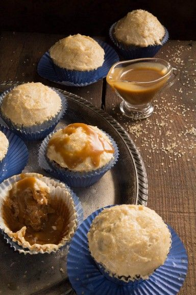 Sticky Toffee Pudding: The best cupcakes ever! Seriously, I mean it! #toffee #cupcakes Recipe at http://indiaphile.info/sticky-toffee-pudding-cupcakes/