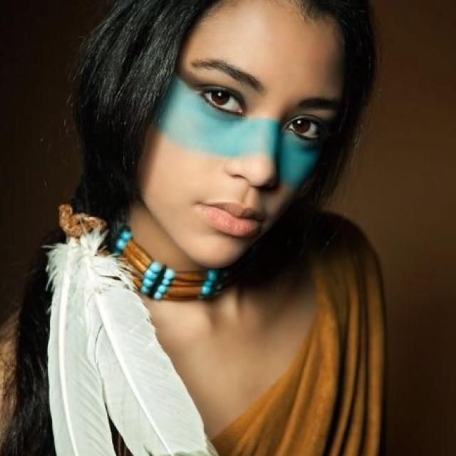 Pocahontas Costume Makeup Idea