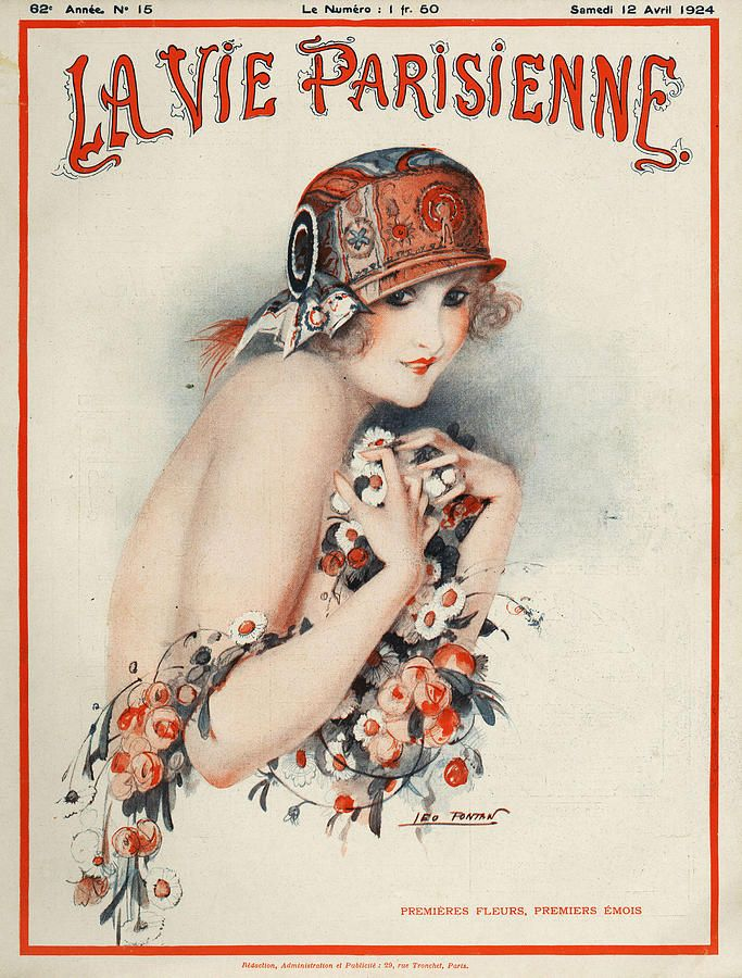 La Vie Parisienne 1924 1920s France Drawing - La Vie Parisienne 1924 1920s France Fine Art Print