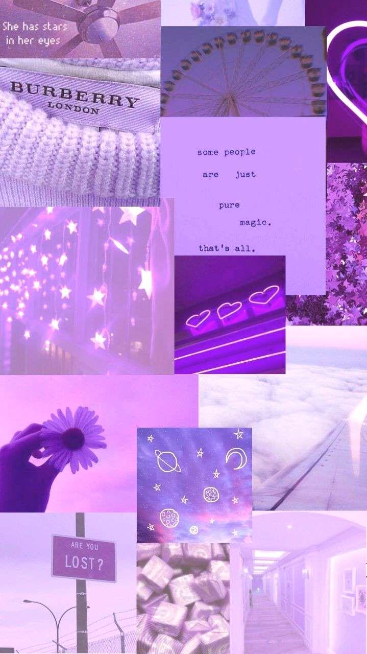 Aesthetic purple wallpapers Purple aesthetic collage#aesthetic | Fond d'écran téléphone, Fond d ...