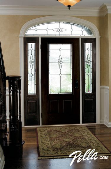 add unique charm to your entryway with pella fiberglass front doors