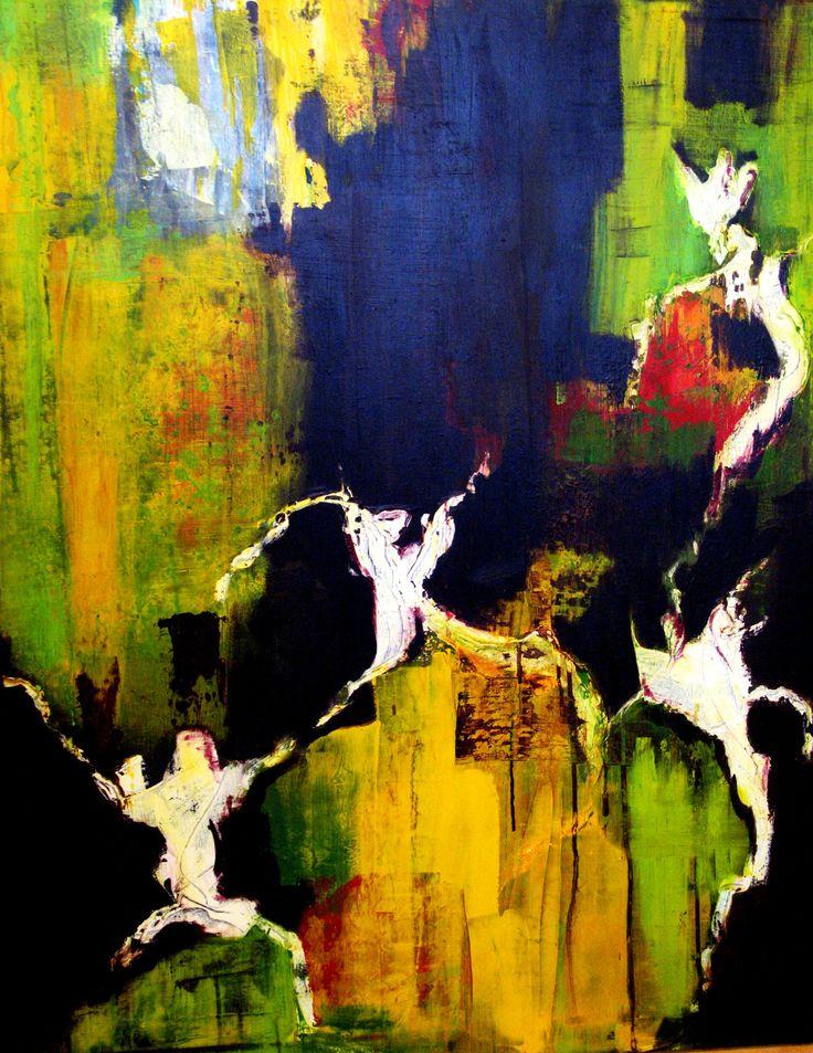 Elverdans I   Acrylmaleri  80*100 cm.