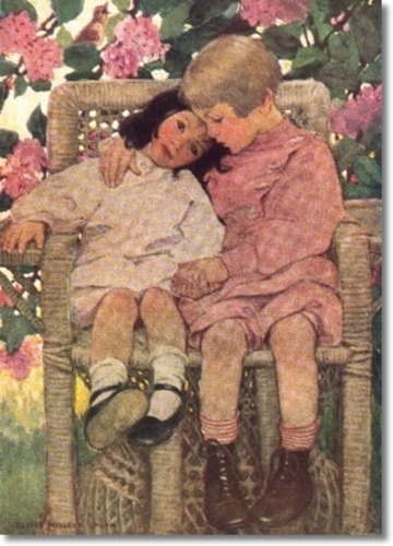 Jessie Wilcox Smith    Reminds me of a photo of my Mom when she was a little girl, maybe with Aunt Burch.
