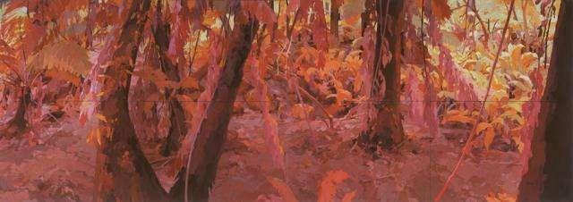 Dance, Kalorama 2008 oil on linen 183 x 518 cm