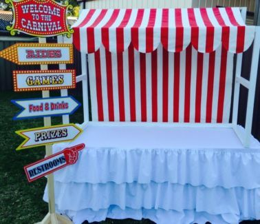 candy buffet advertisement | Candy Buffet Table Canopy, Lemonade stand, carnival props, circus prop ...