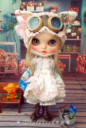 Custom Blythe Dolls: Asterisk Custom Blythe Cat Rider - A Rinkya Blog