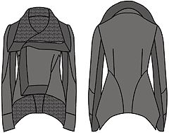 """Examples of models of jackets designed based on the calculated program """"Cutter"""""""