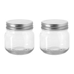 IKEA - HEMSMAK, Jar with lid, The transparent jar makes it easy to find what you are looking for, regardless of where it is placed.