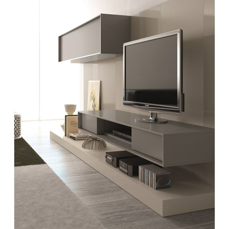 """J&M Furniture 17998 Composition 59"""" Wall Unit in Taupe"""