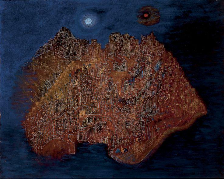 ALICE RAHON, The Inner City. Acrílico sobre tela (acrylic on canvas). Acervo Museo de Arte Moderno de la Ciudad de Mexico.