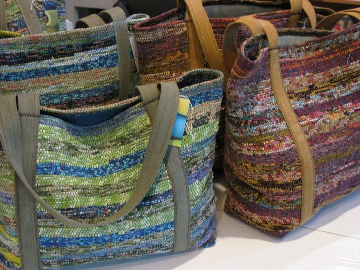 Beautiful Bags - lovely small rag rugs.