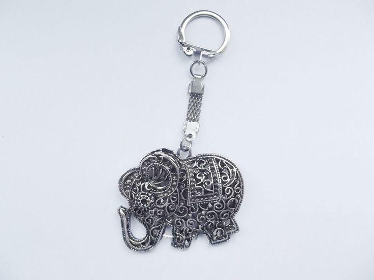 Brelok do kluczy- słoń ażurowy - barbarella-br - Akcesoria