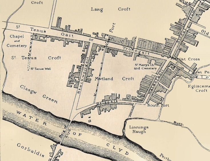 Glasgow (map 1547) where John Dickey Jr. (Ancestry Wilson tree) was born in 1542 (died there 1606)
