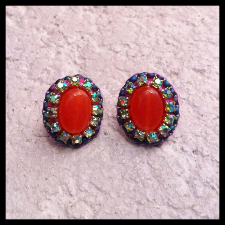 Handmade Jewelry - Stud Earrings https://www.facebook.com/CarolinaRuizJewellery