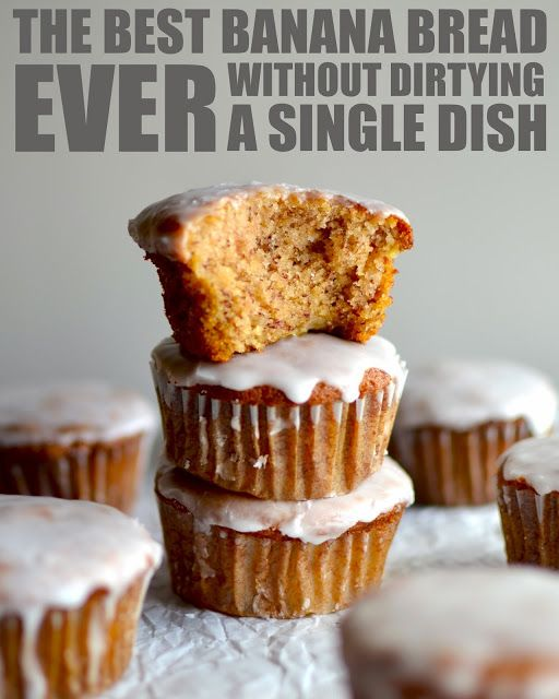 Yammie's Noshery: The Best Banana Bread Muffins Ever {Without Dirtying a Single Dish} - Delicious and Easy As :-)