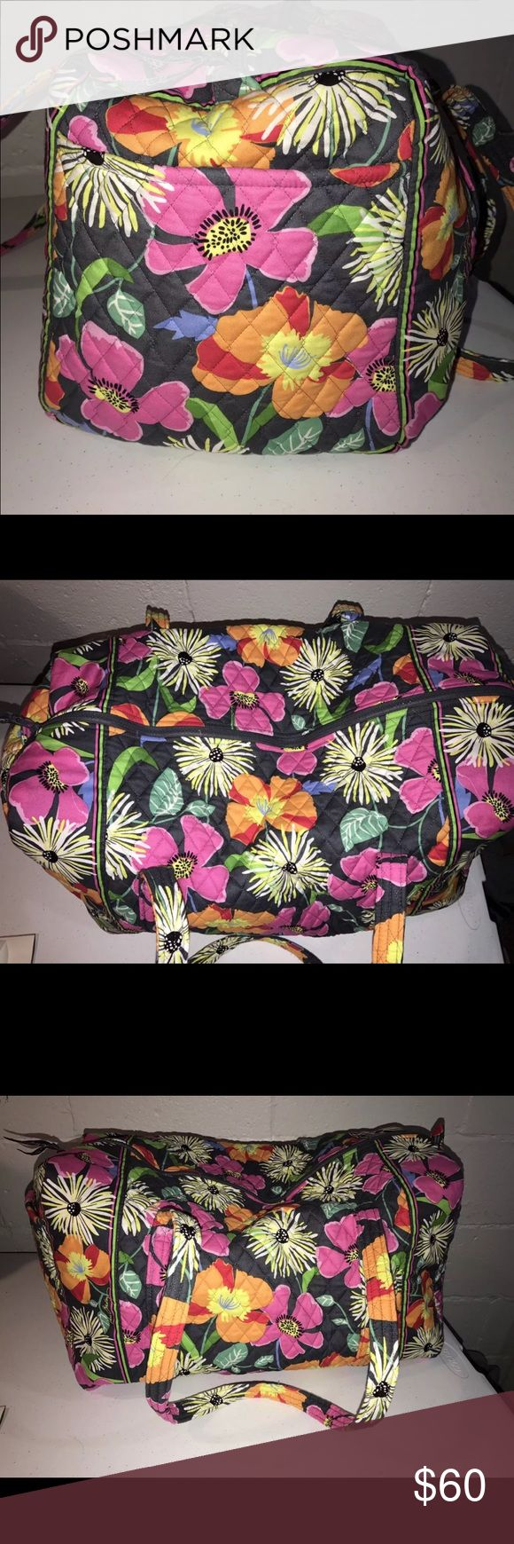 "Vera Bradley Duffel Bag 22"" w x 11 ½"" h x 11 ½"" d with 15"" strap drop Excellent condition. Never used. Vera Bradley Bags Travel Bags"