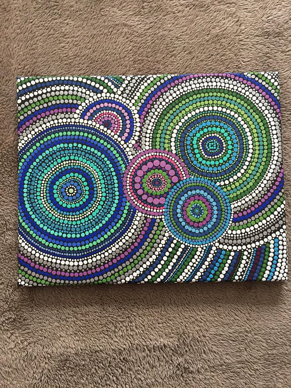 11x14 Multi Color Dot Painting