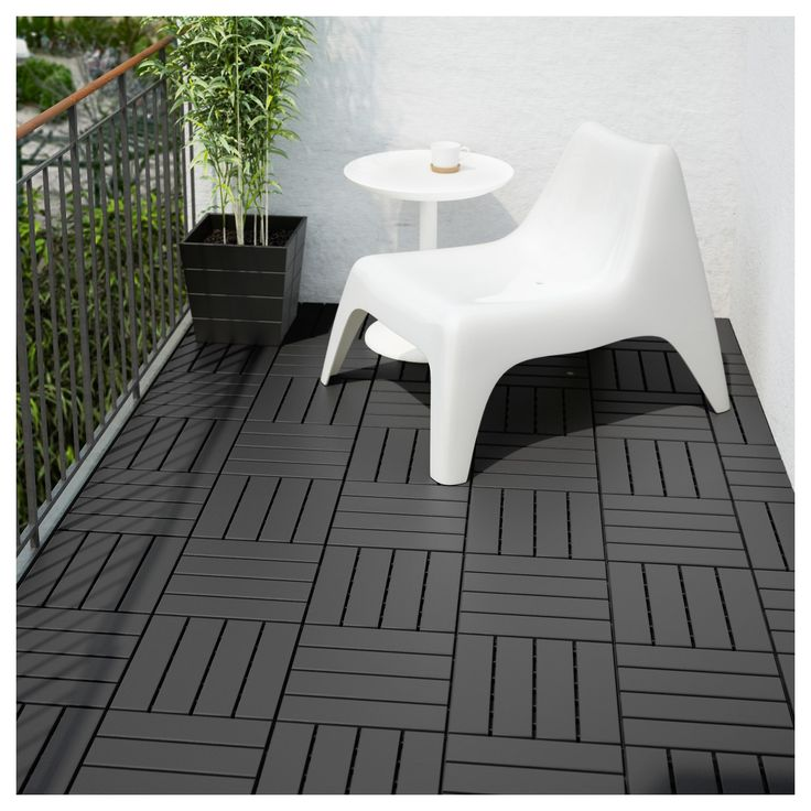 IKEA RUNNEN Dark Gray Decking, outdoor Outdoor flooring