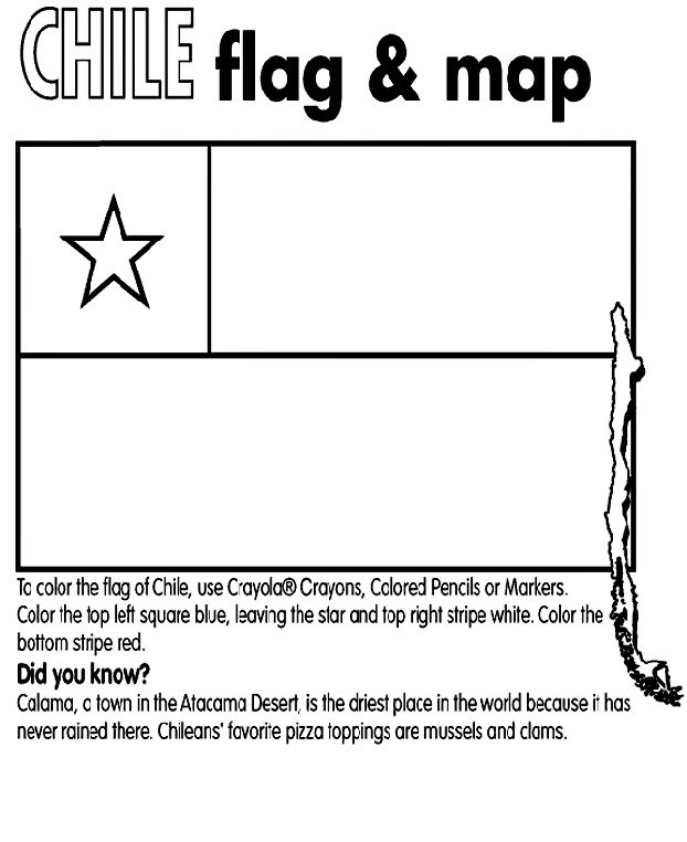 chile country coloring | Chile coloring page