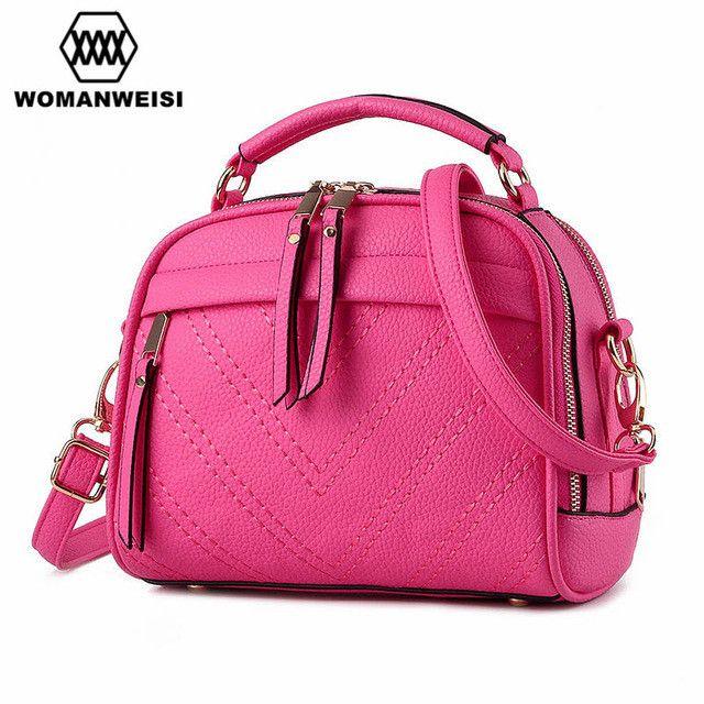 10 Colors Small Women Messenger Bags 2017 Brand New Leather Shoulder Bag Luxury Handbags Women Bags Designer Ladies Kabelky Saco