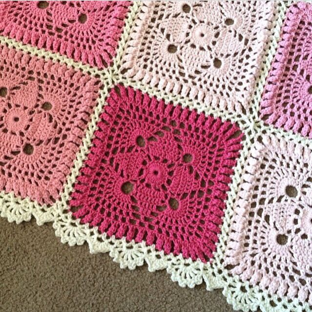 Edging on cypresstextiles.net. Squares are from Crocheted ...