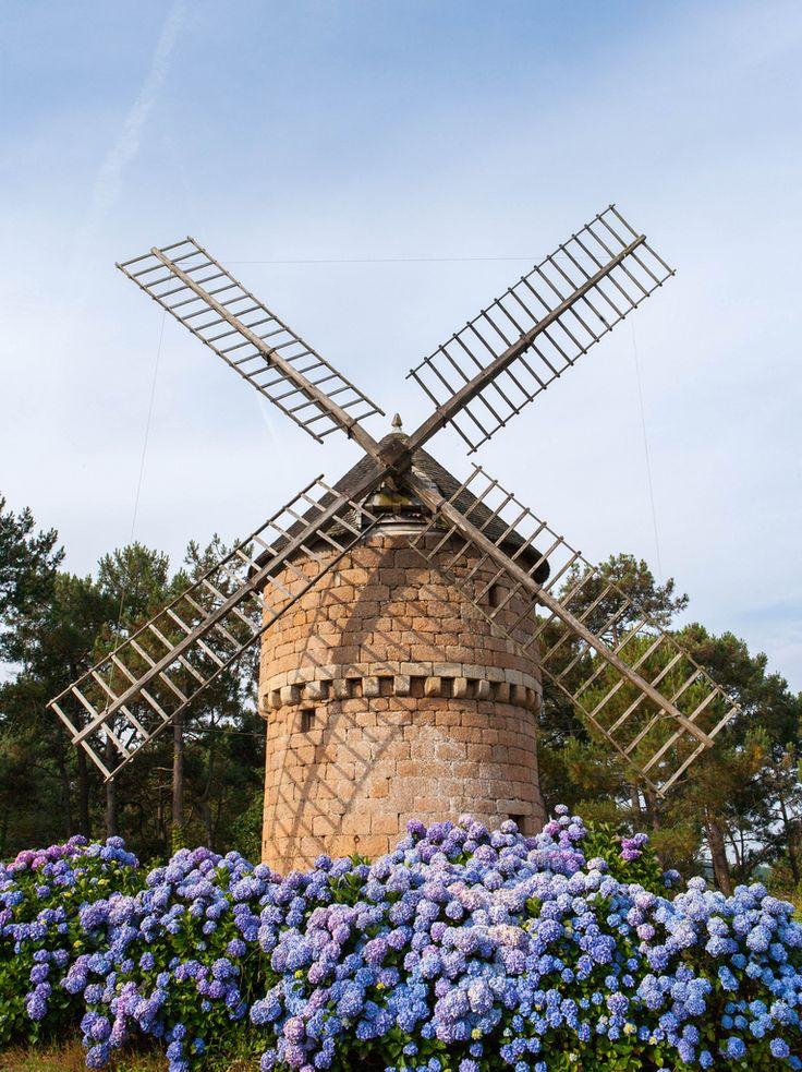 #Windmill - Perros-Guirec, Bretagne                                                                                                                                                      More