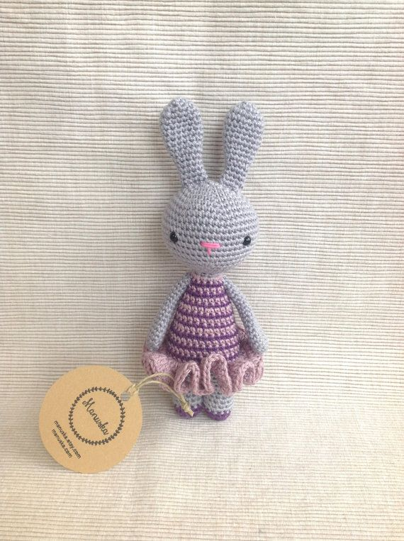 LILY  Crochet Bunny Amigurumi Bunny Handmade Bunny by Manuska