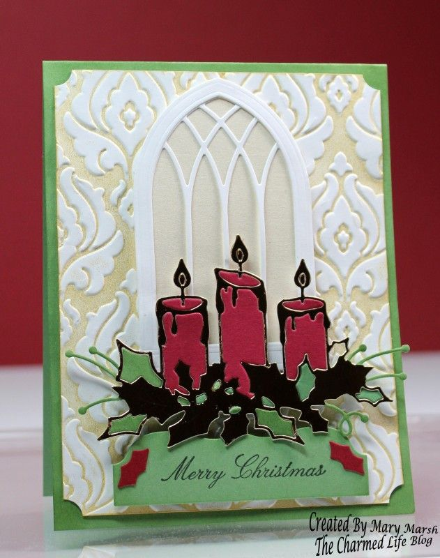 Christmas Glowing Candles by Cards and