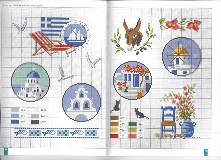 Les 140 meilleures images du tableau point de croix sur pinterest point de croix veronique - Grille point de croix mer ...