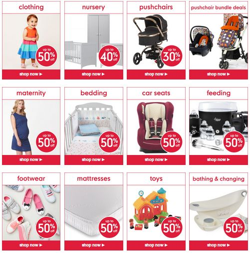 STARTS TODAY Up to 50% off 1000+ Items at the Mothercare Sale with FREE C&C in store