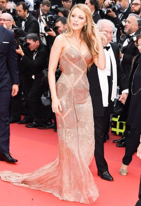 Blake Lively stuns in an Atelier Versace gown at the premiere of her film, Woody Allen's Cafe Society, at the Cannes International Film Festival.